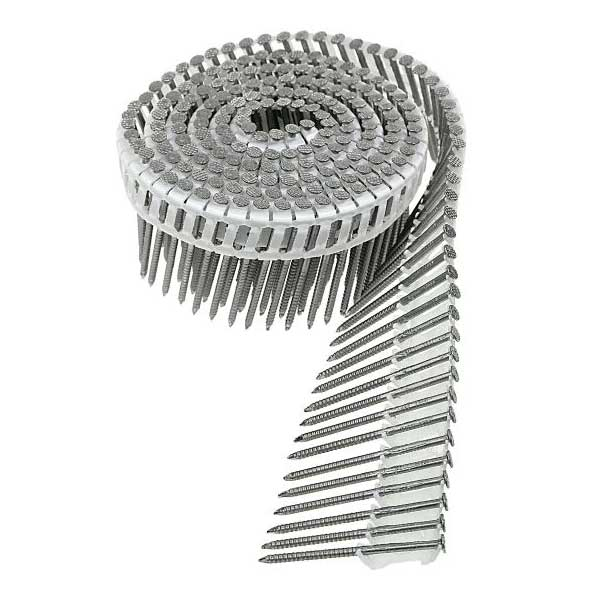 "8D 2-1/2"" 316 SS PLASTIC COLLATED COIL NAILS 2400/BX - Liberty Cedar"